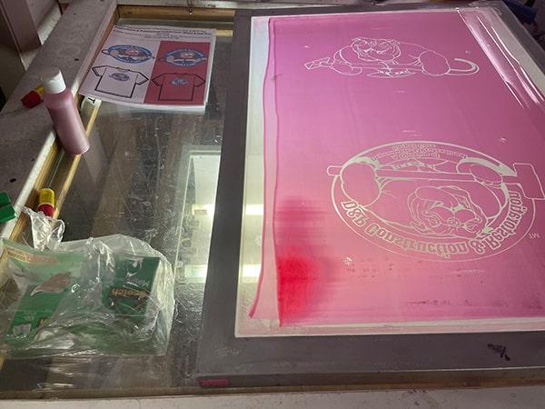 Screen printing stencil light board
